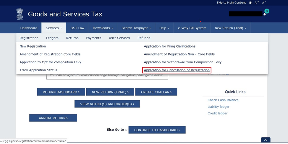 GST Registration cancellation process by registered person